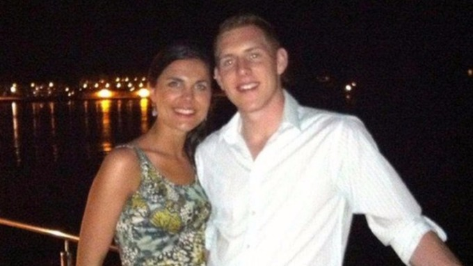 Michaela and Jon McAreavey honeymoon