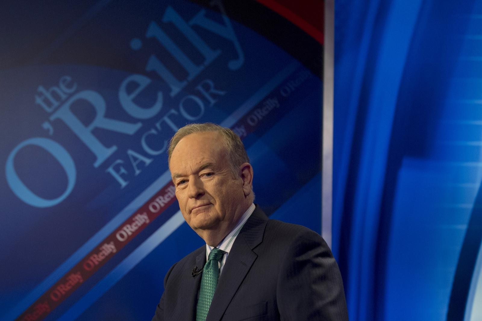 Bill O'Reilly on set