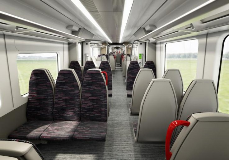 Greater Anglia rail carriage seating