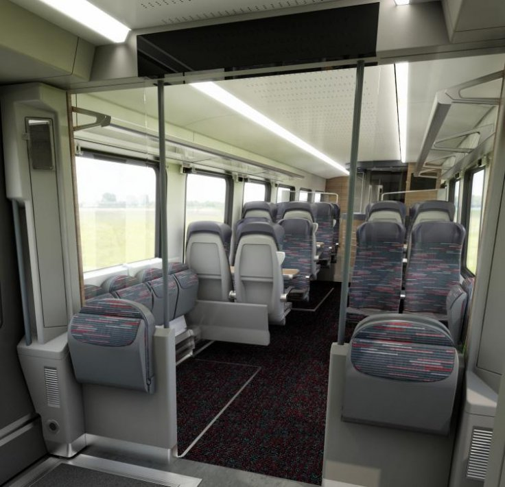 Greater Anglia rail carriage seating space