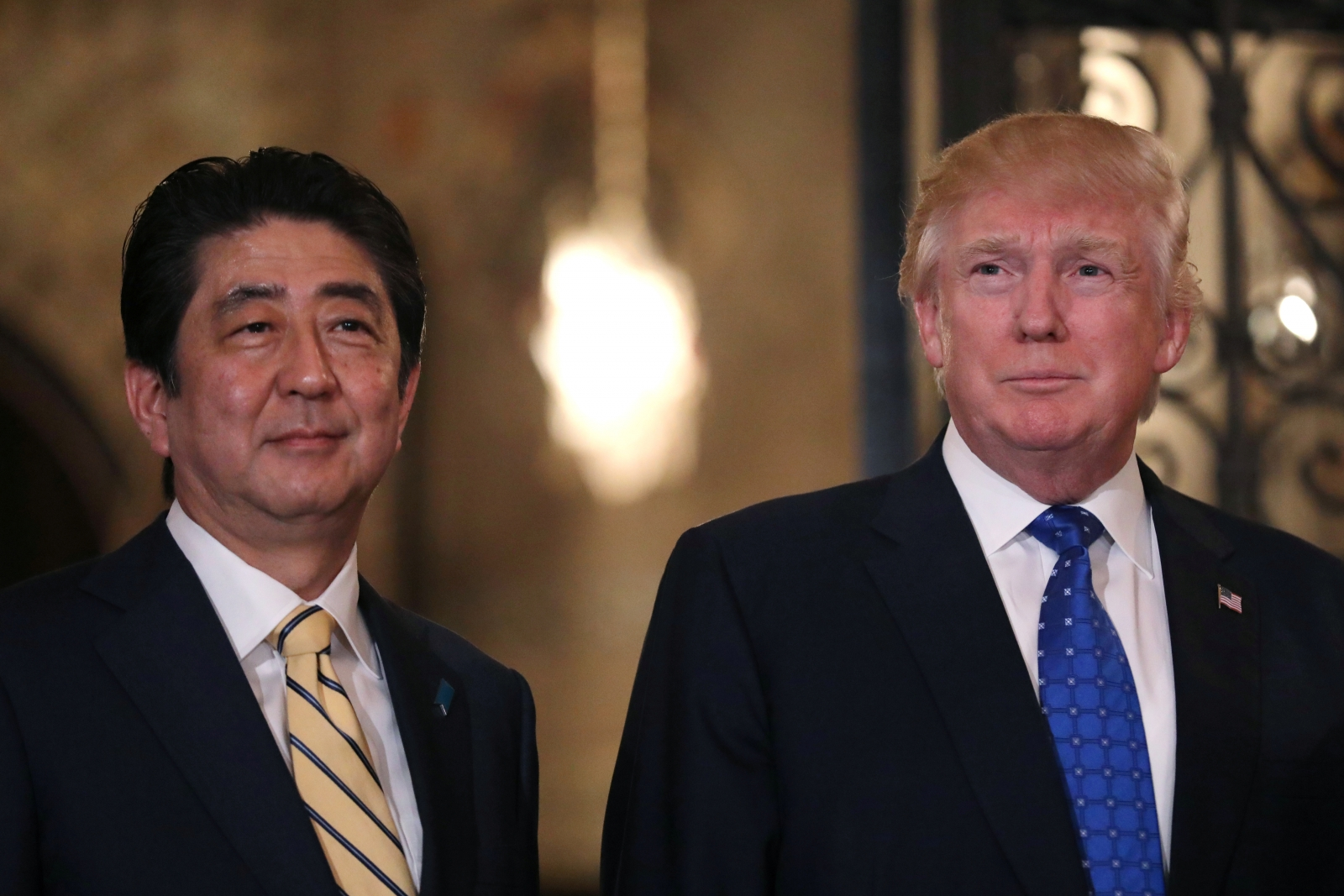 Donald Trump and Shinzo Abe