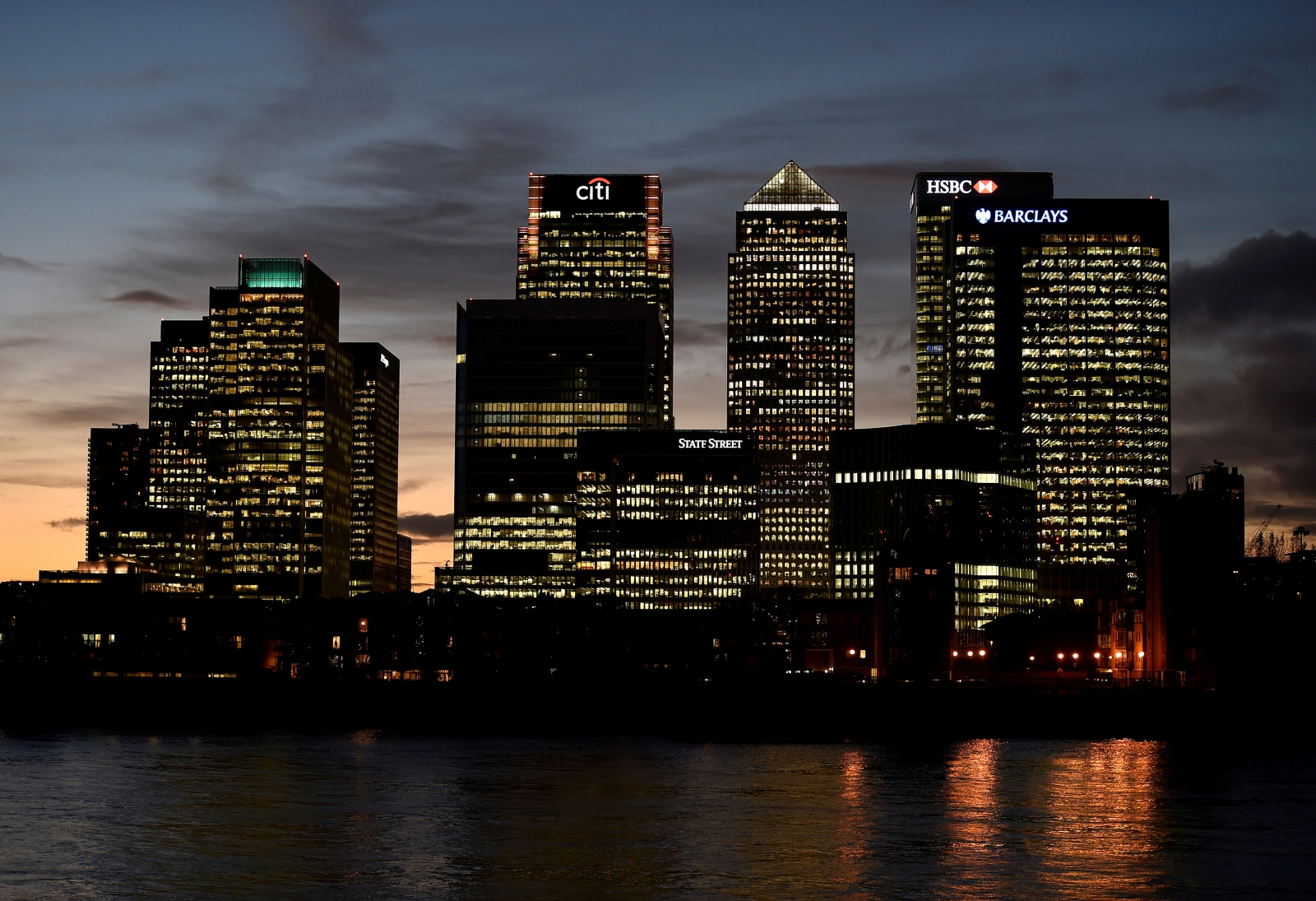 Canary wharf view