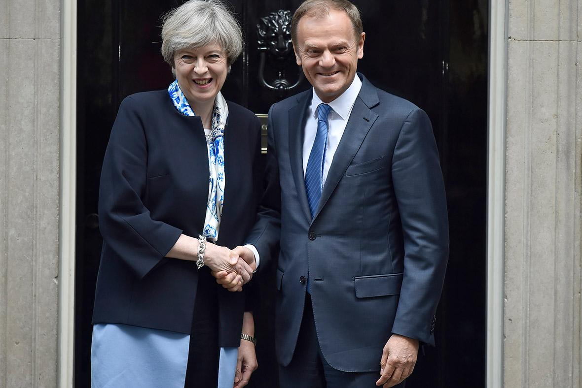 Theresa May, Donald Tusk