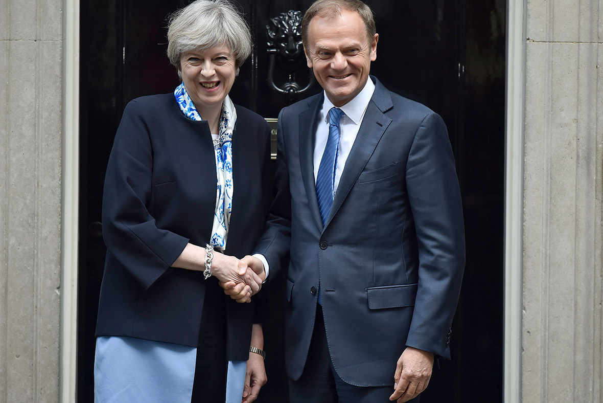 Theresa May, Donald Tusk