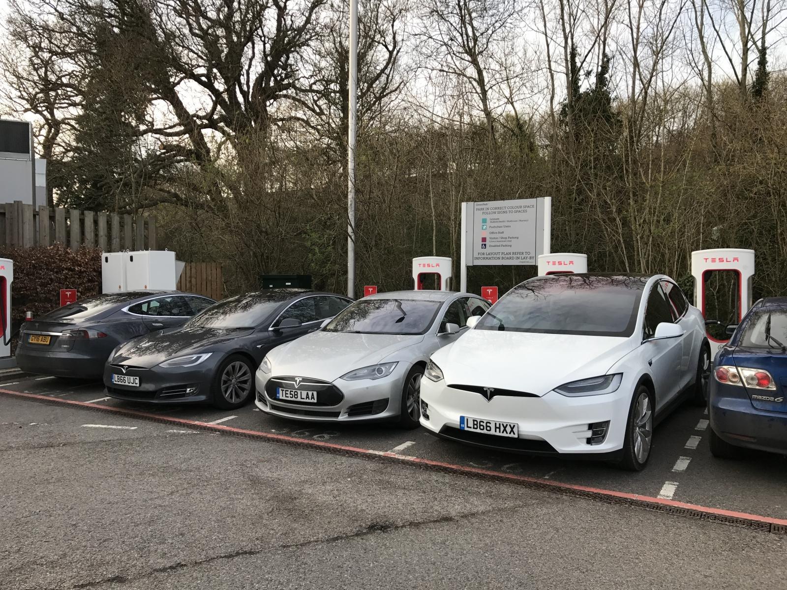 Tesla Model X and Model S