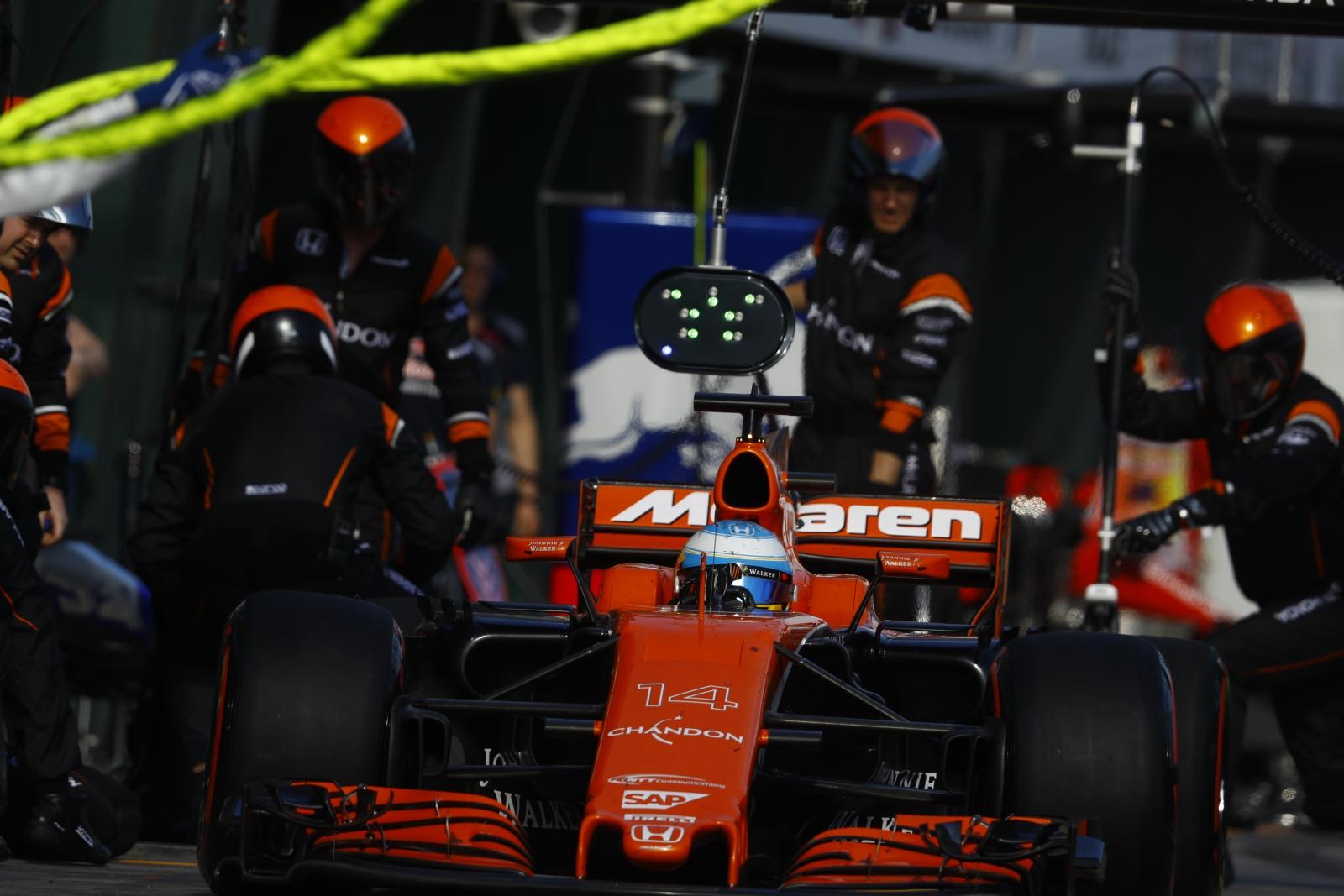 McLaren Honda F1 car 2017