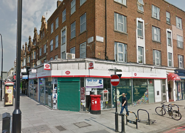 Post office bottle attack Edgware Road