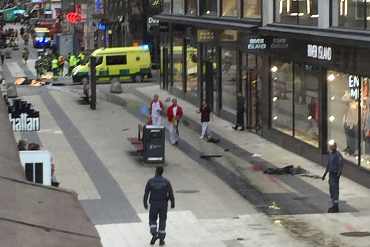 Sweden terror attack: Truck ploughs into crowd in Stockholm – as it happened
