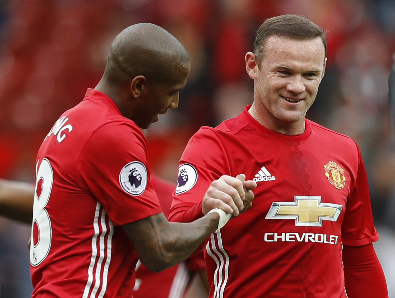 Ashley Young and Wayne Rooney