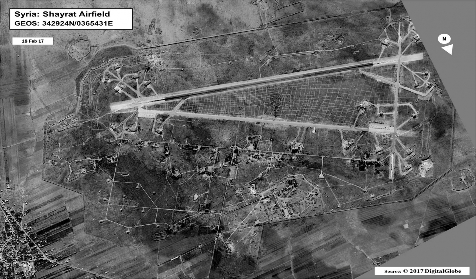 Shayrat airfield Syria US missiles