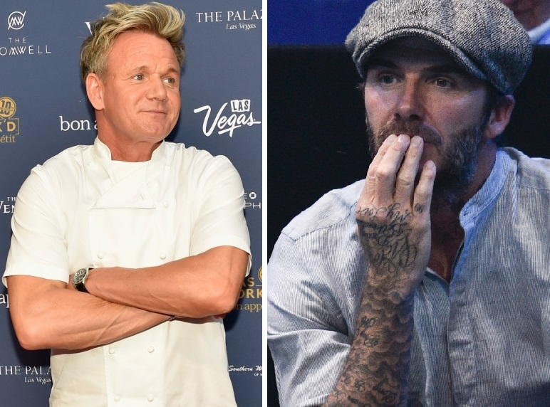 Gordon Ramsay and David Beckham