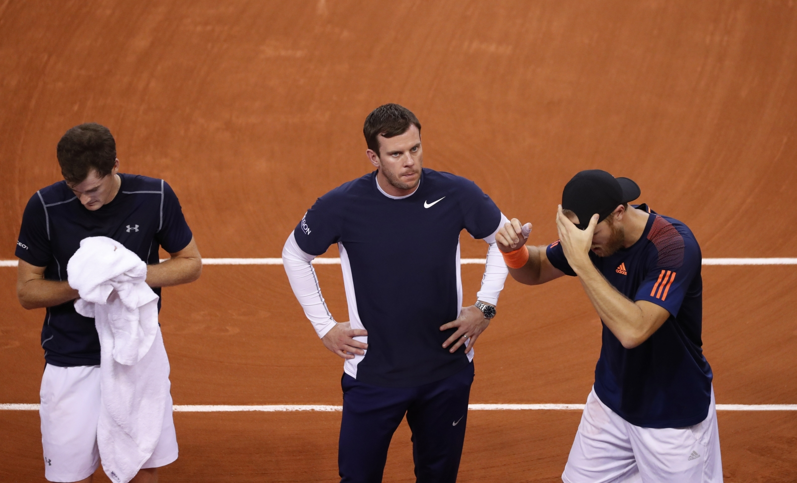 Jamie Murray, Leon Smith and Dom Inglot