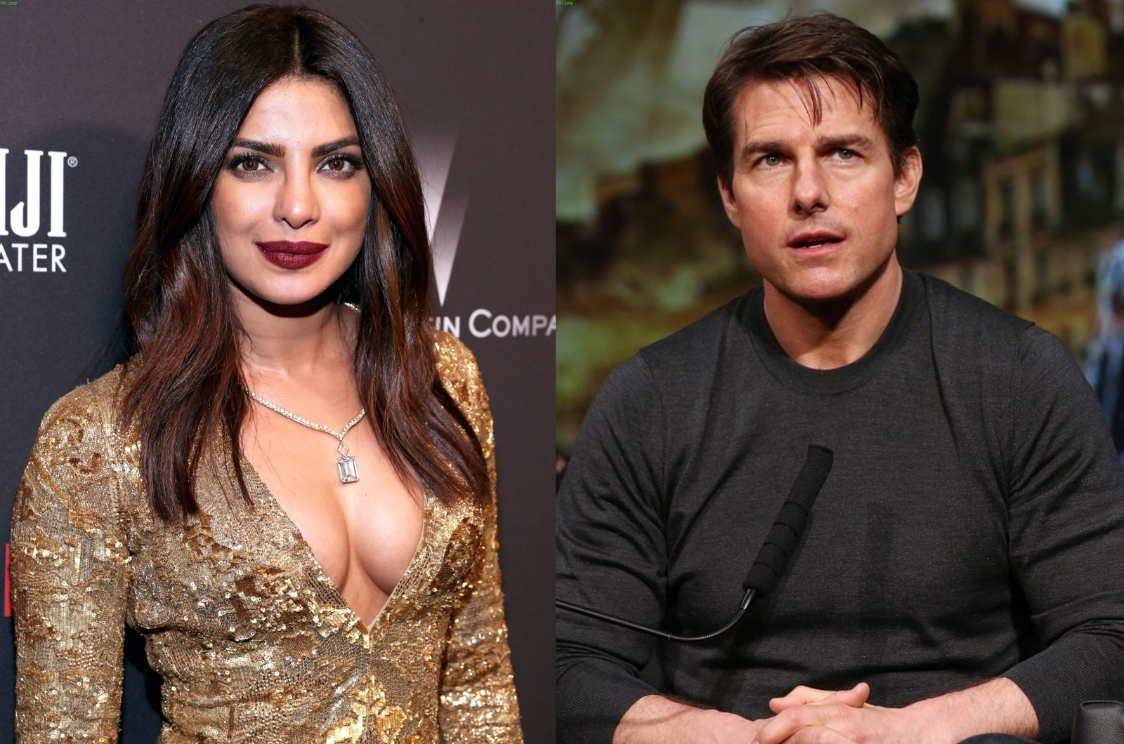 Priyanka Chopra and Tom Cruise