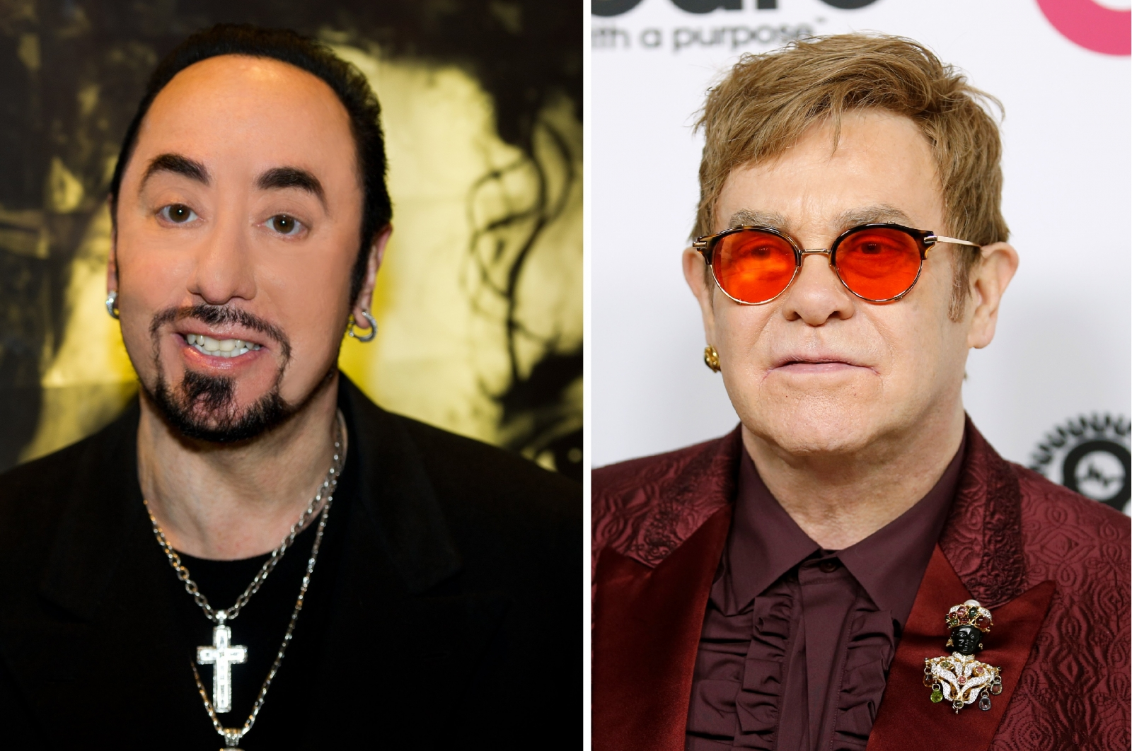David Gest and Elton John