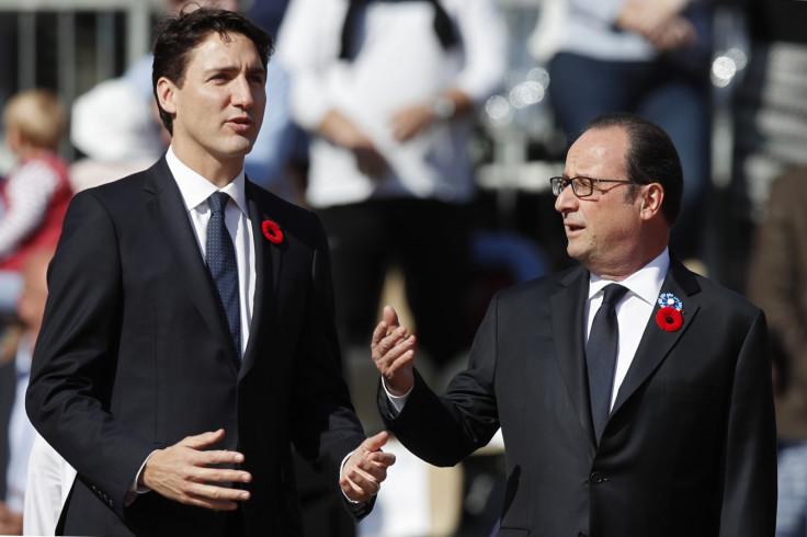 Trudeau and Hollande
