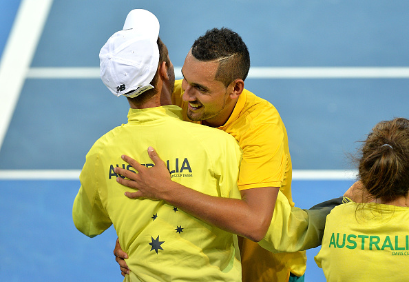Australia charges to 2-0 lead over U.S. in Davis Cup quarters