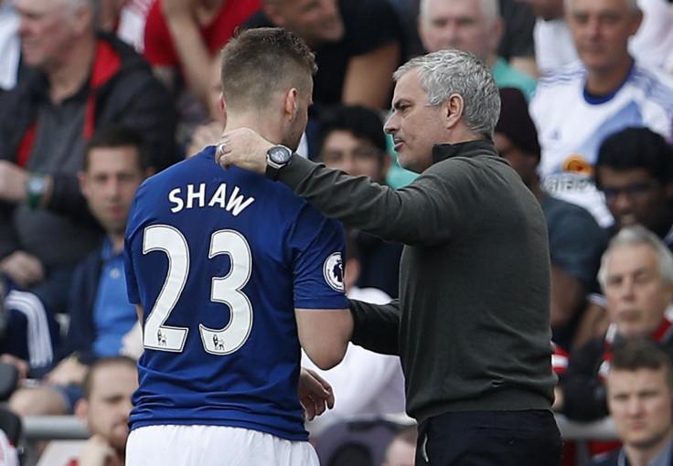 Luke Shaw and Jose Mourinho