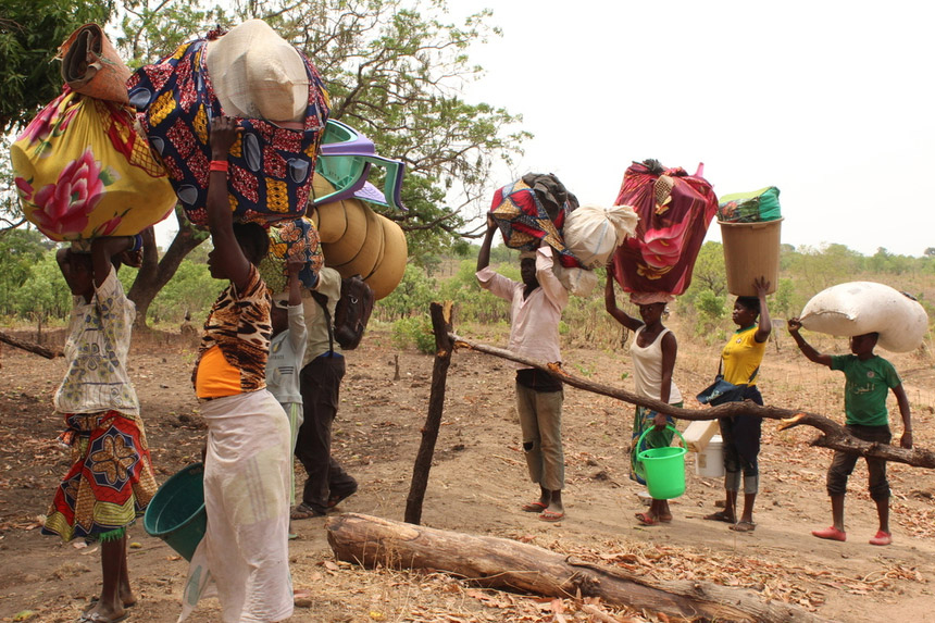 People fled Central African Republic to Chad