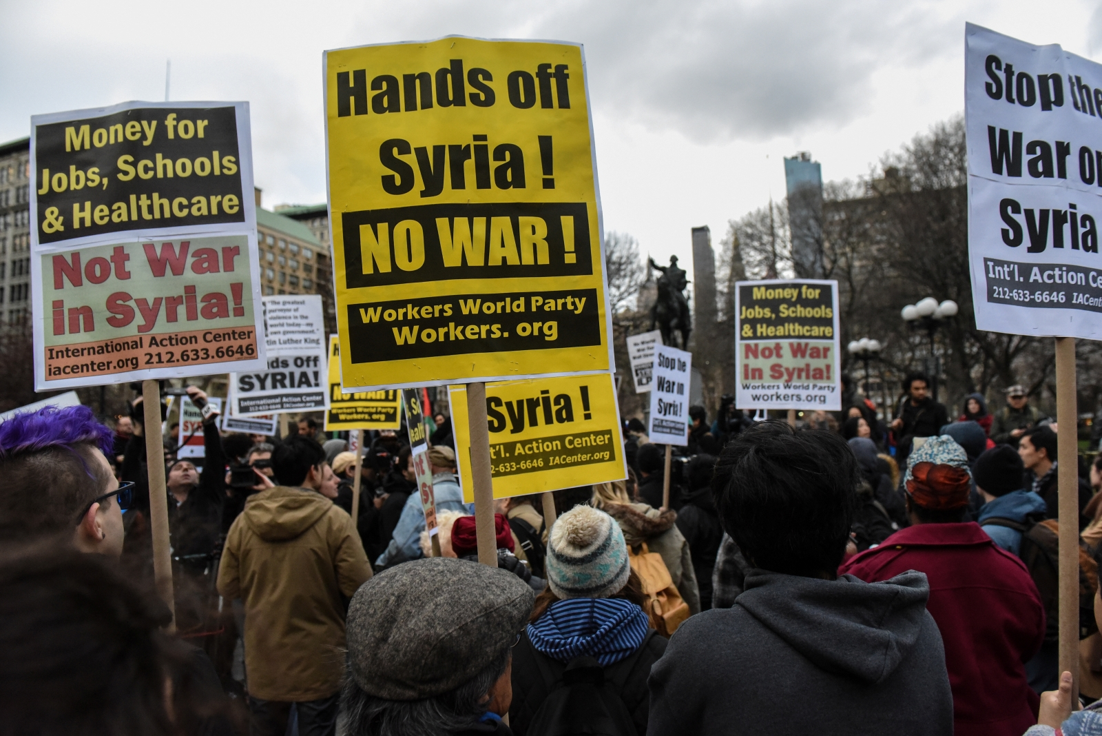 Syria protest New York