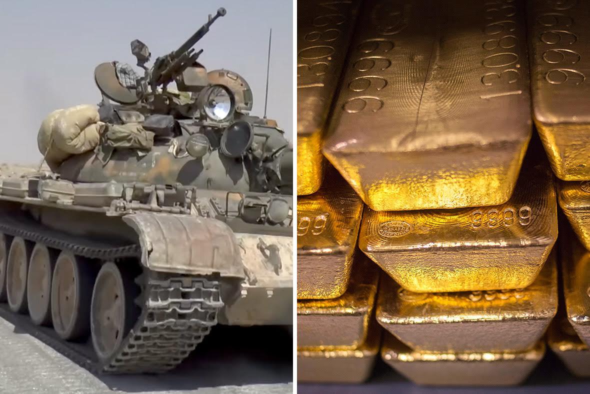 T54 gold bars