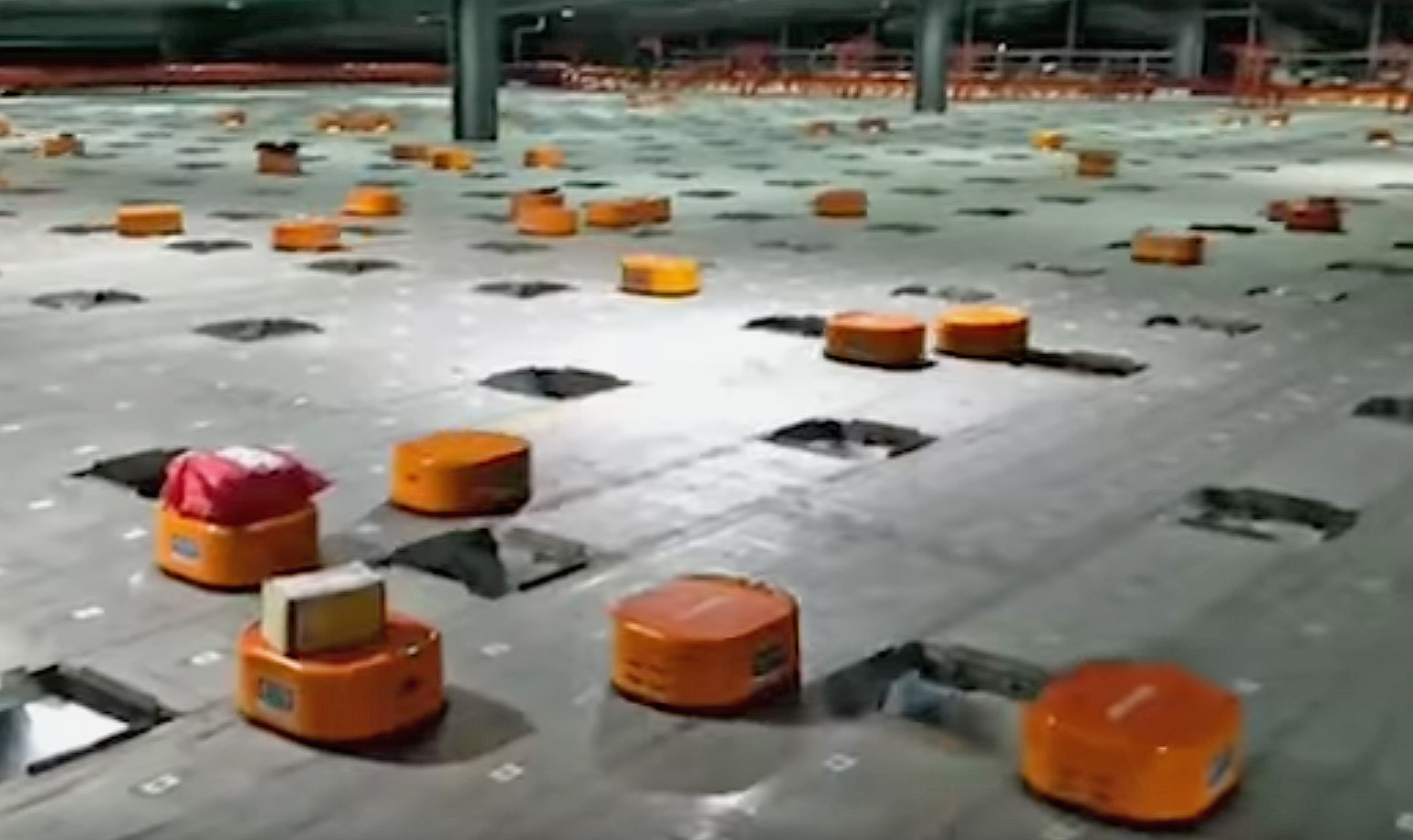 Package sorting robot army in China