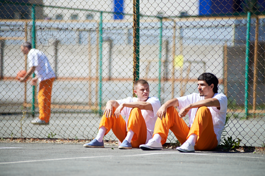 Inmates in the sun