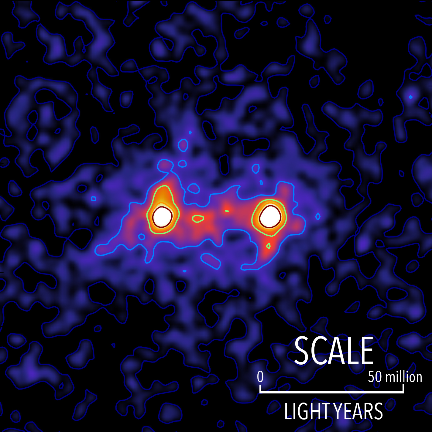 Astronomers Create 'Image' of Dark Matter Bridge that Connects Galaxies