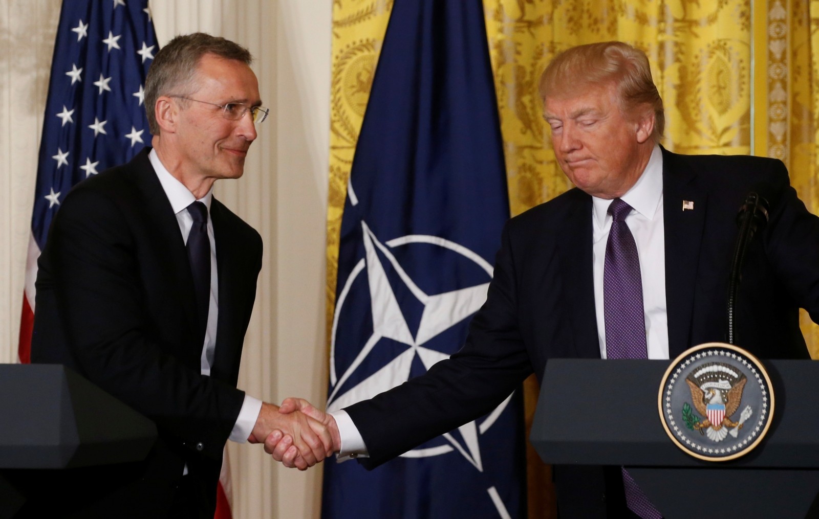Donald Trump and Jens Stoltenberg