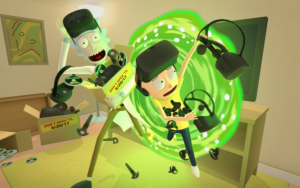 Rick And Morty Virtual Rick Ality Will Get Schwifty In Vr For Oculus Rift And Htc Vive