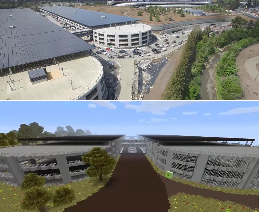 Apple Park on Minecraft,