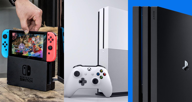 Nintendo Switch Xbox One S PS4 Pro