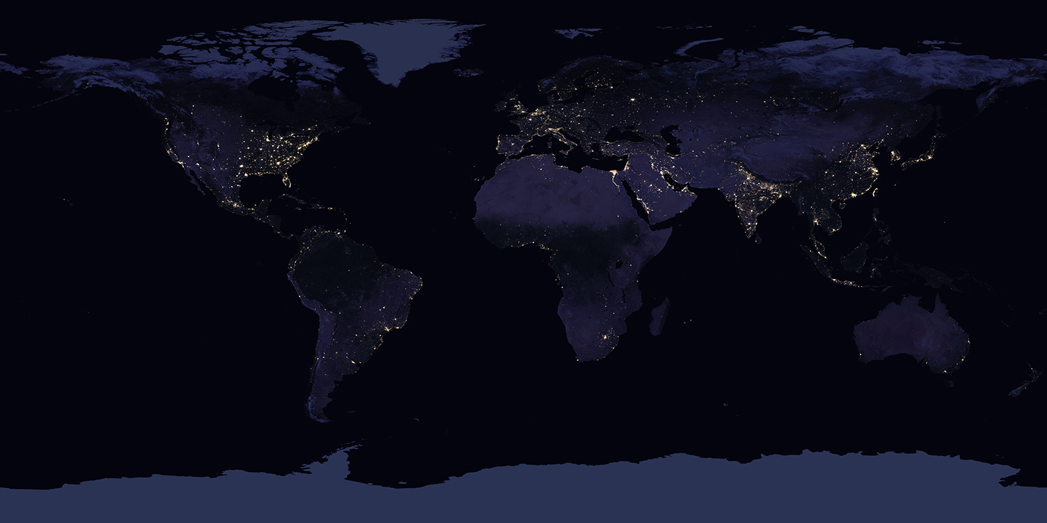 Nasa Earth Map at night