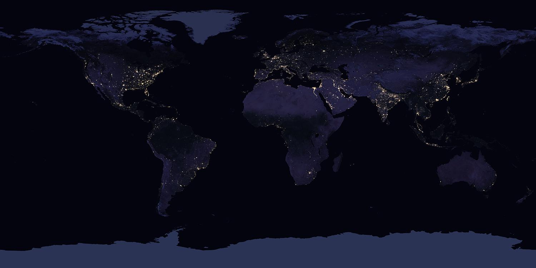 Nasa Earth Map at night
