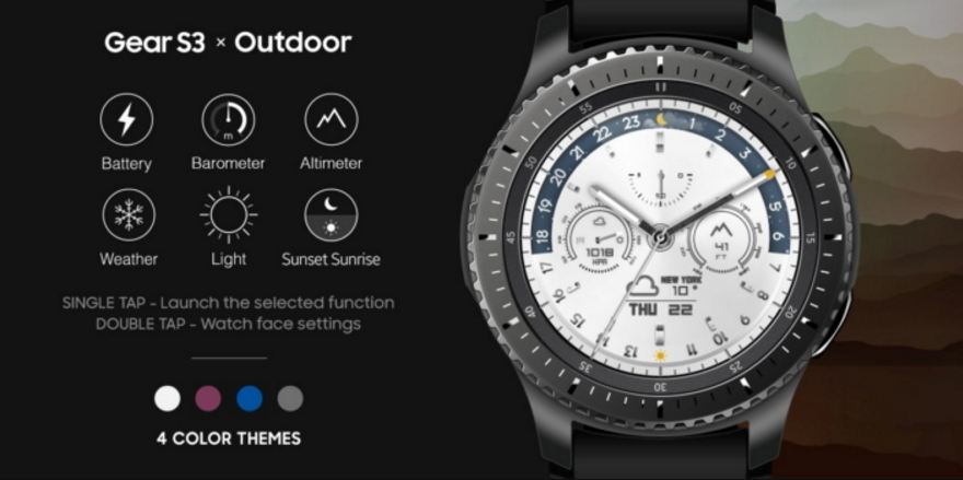 Samsung Outdoor watchface for Gear S3