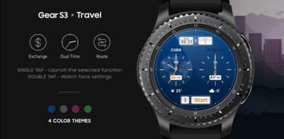 Samsung Travel watchface for Gear S3