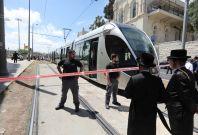 Jerusalem stabbing scene