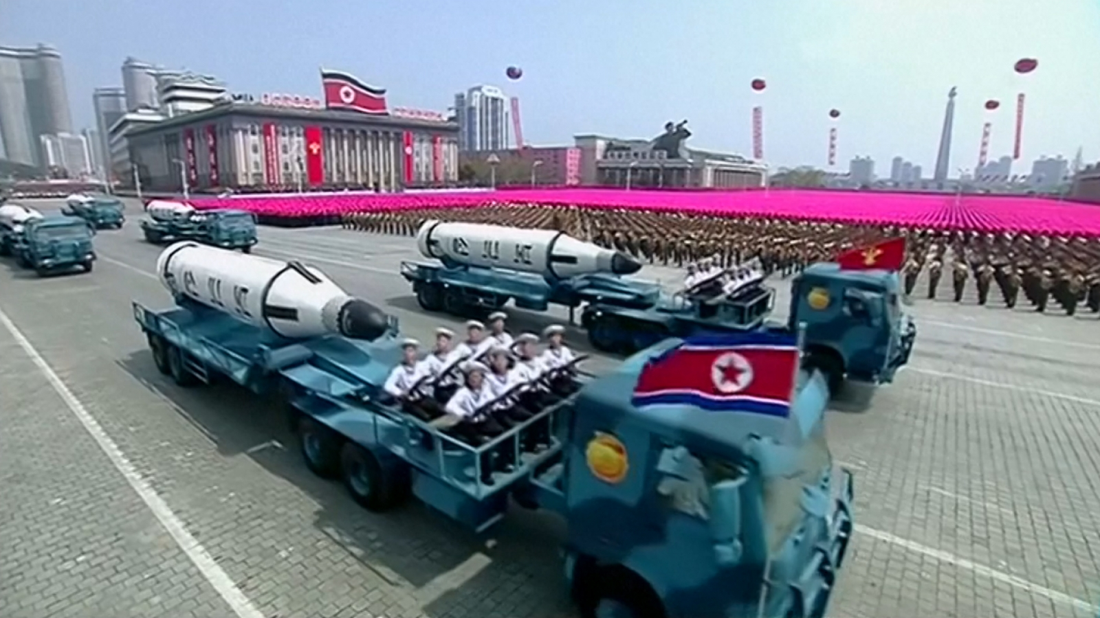 North Korea shows off new ICBM during founder's day parade