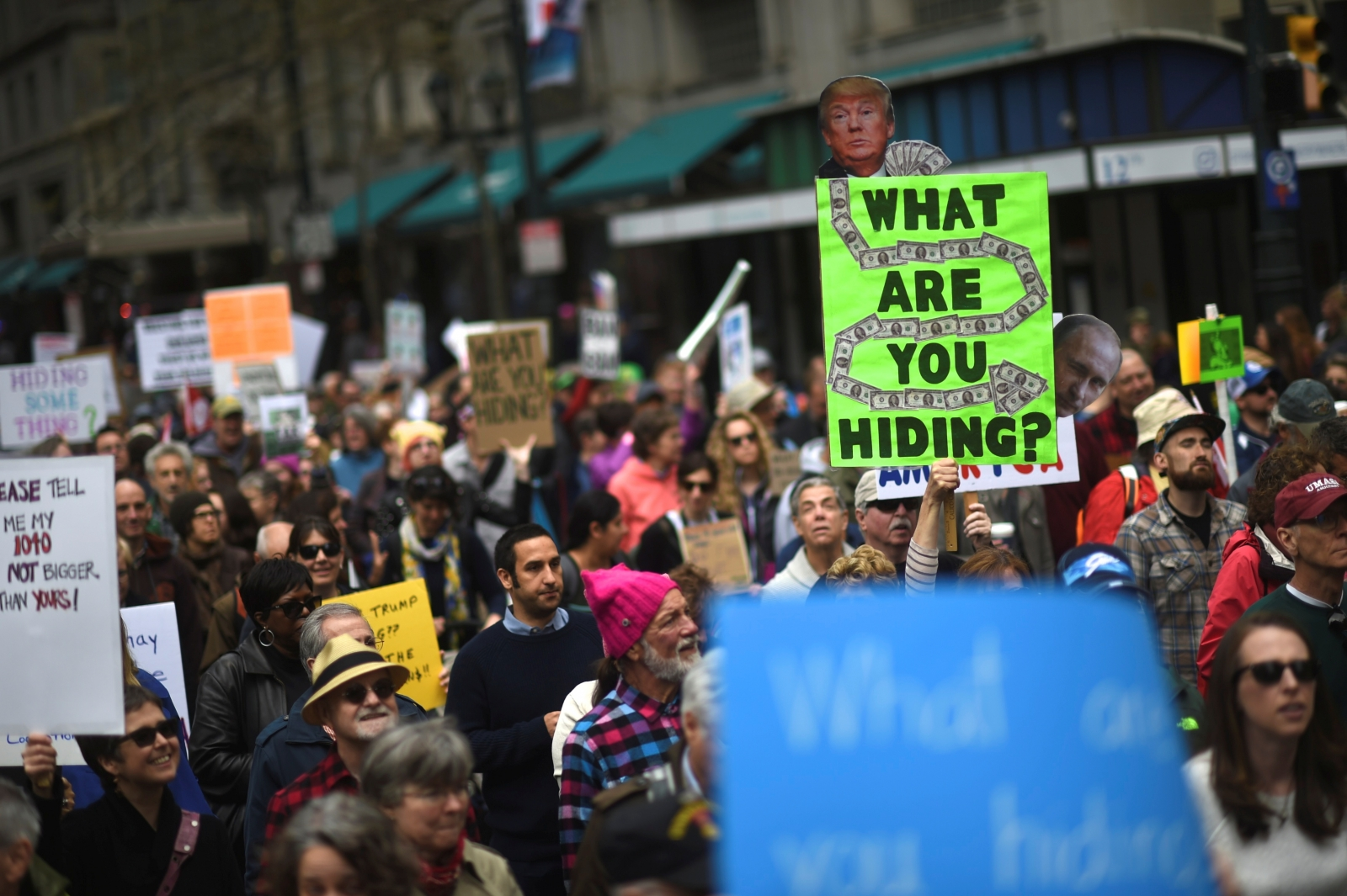 Trump tax protests