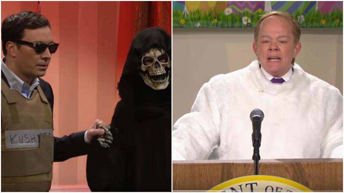Jimmy Fallon and Melissa McCarthy on SNL