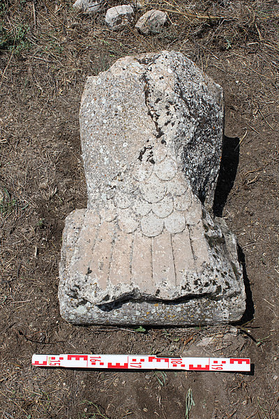 Stone relief of Roman noble or emperor.