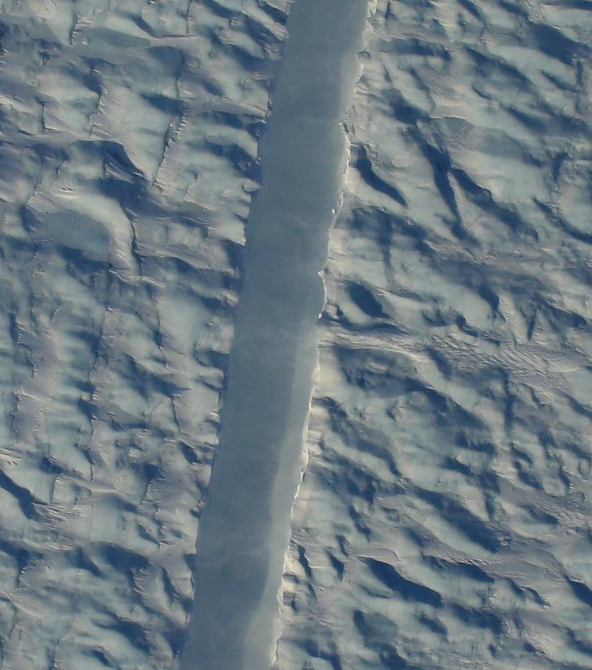 Nasa's captured photos of this mysterious and ominous crack in one of Greenland's biggest glaciers