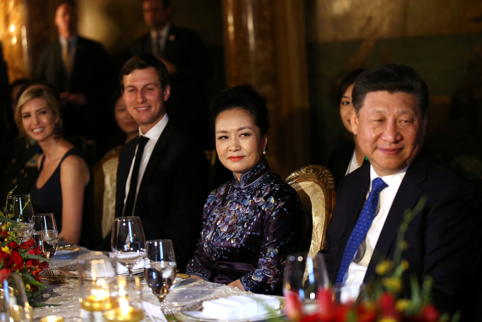 Xi Jinping, Peng Liyuan, Jared and Ivanka