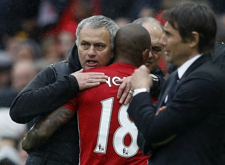 Ashley Young and Jose Mourinho