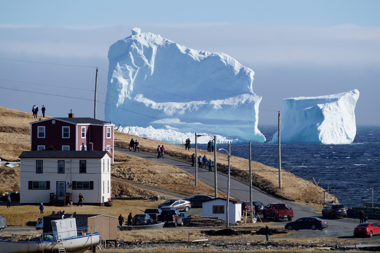 Tourists flock to small Newfoundland town to see towering, 45-metre iceberg