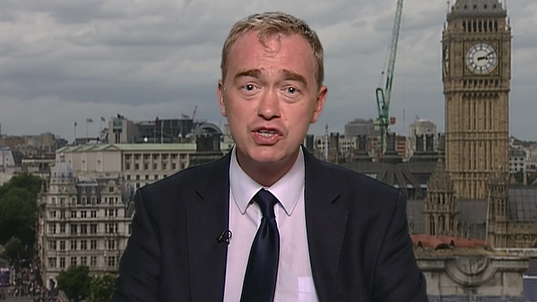 Tim Farron repeatedly avoids question on homosexual sex