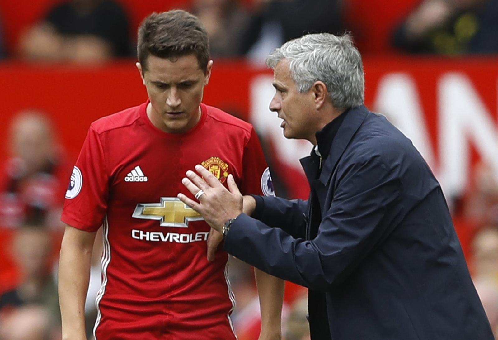 Ander Herrera and Jose Mourinho