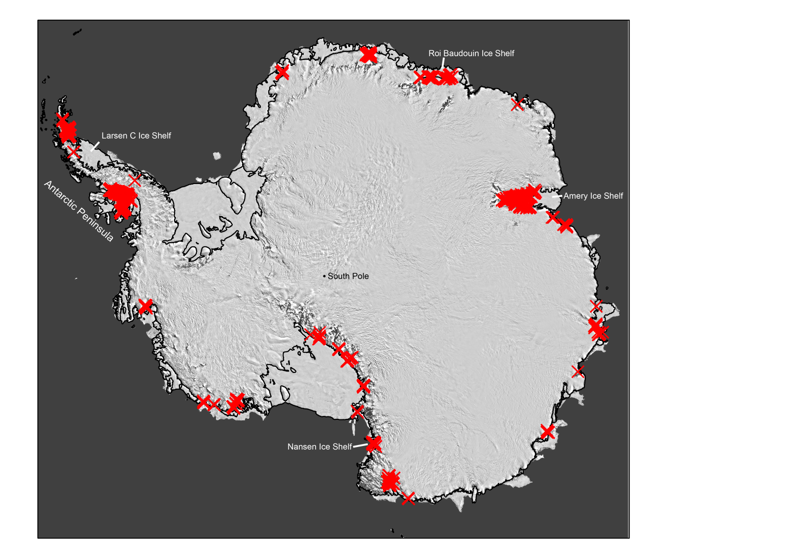 Antarctica Is Covered With More Meltwater Than Thought