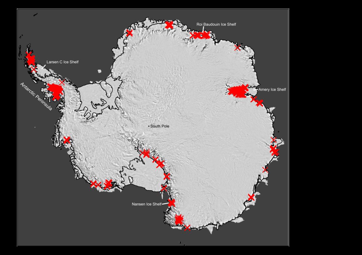 Antarctica rivers