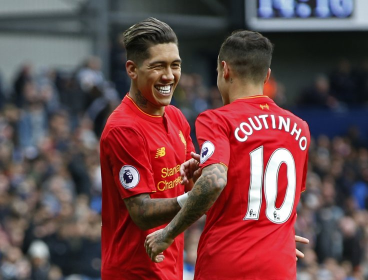 Roberto Firmino and Philippe Coutinho