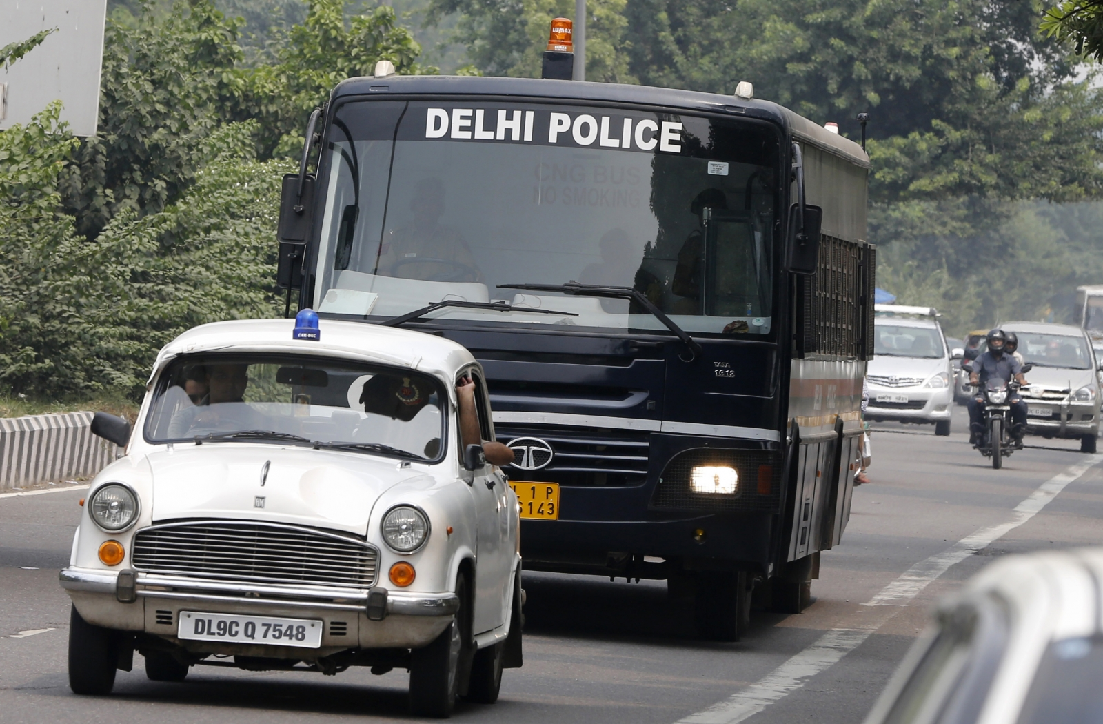 India red beacon lights ban